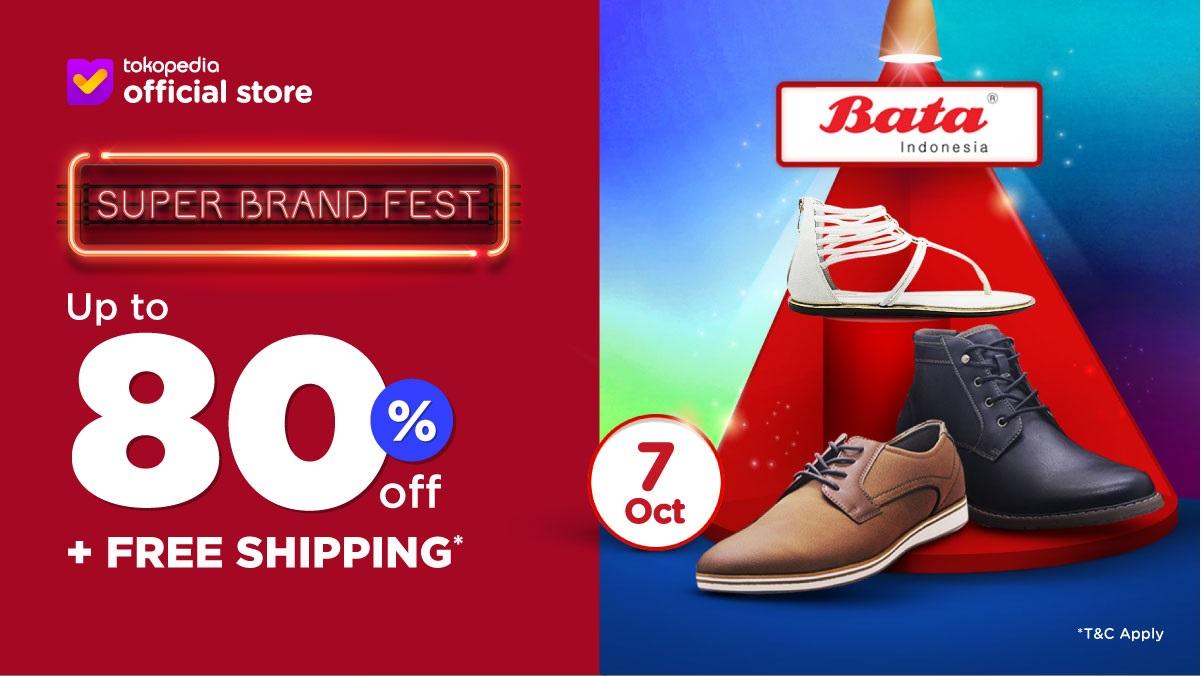 Tokopedia Promo Sepatu Bata Untung Nyata, Diskon Hingga 80% + Free Shipping