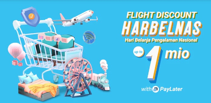 Traveloka Promo Tiket Pesawat, Bayar Dengan Traveloka PayLater Diskon Hingga Rp 1 Juta