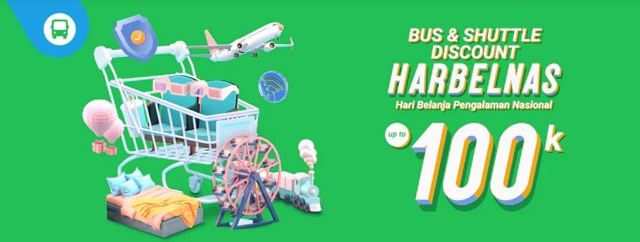 Traveloka Promo Bus & Shuttle Spesial Harbelnas 1010, Diskon Hingga Rp 100.000