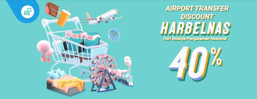 Traveloka Promo Harbelnas 1010, Airport Transfer Diskon 40%