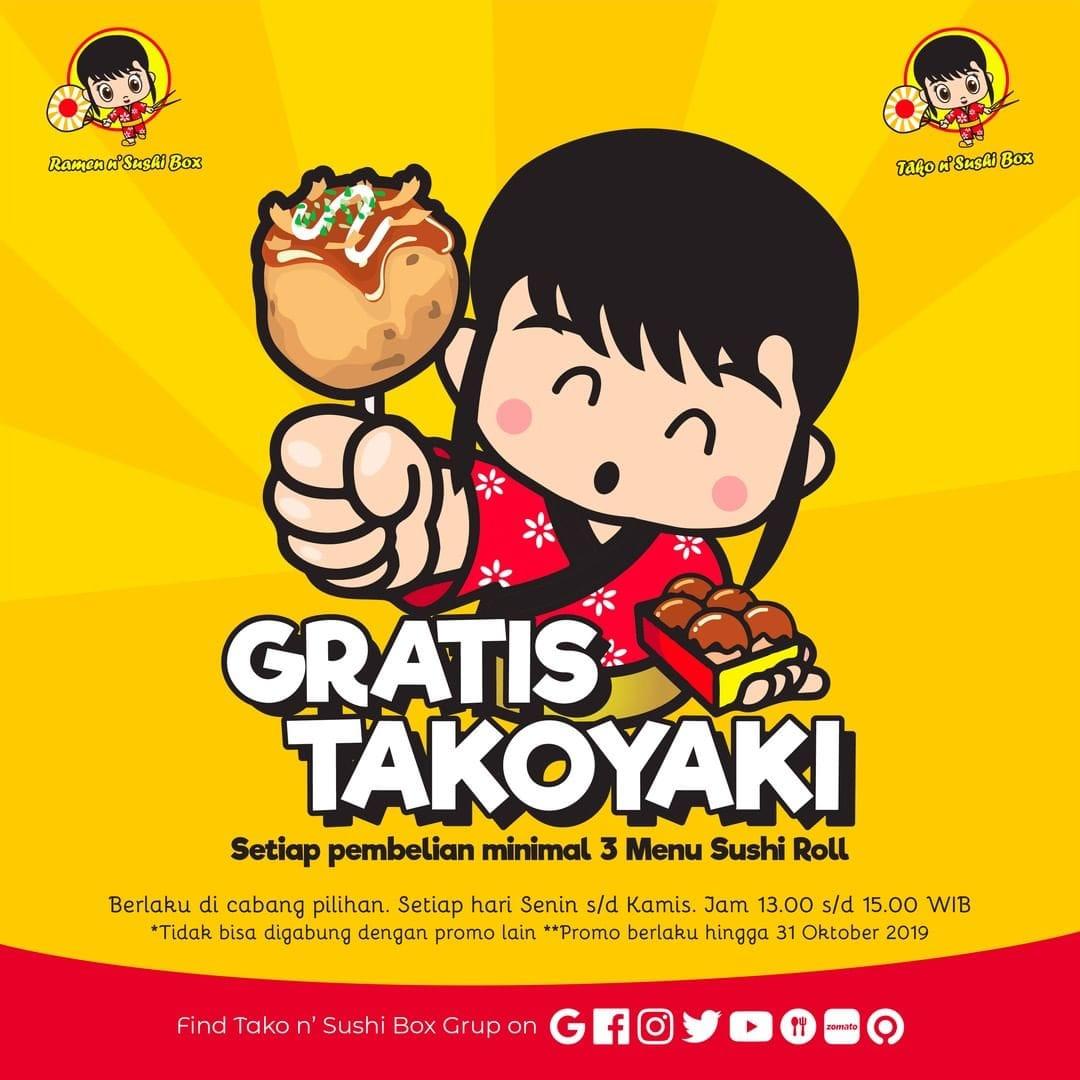 Gratis Takoyaki di Ramen n' Sushi Box, Ini Dia Cara Mendapatkannya!