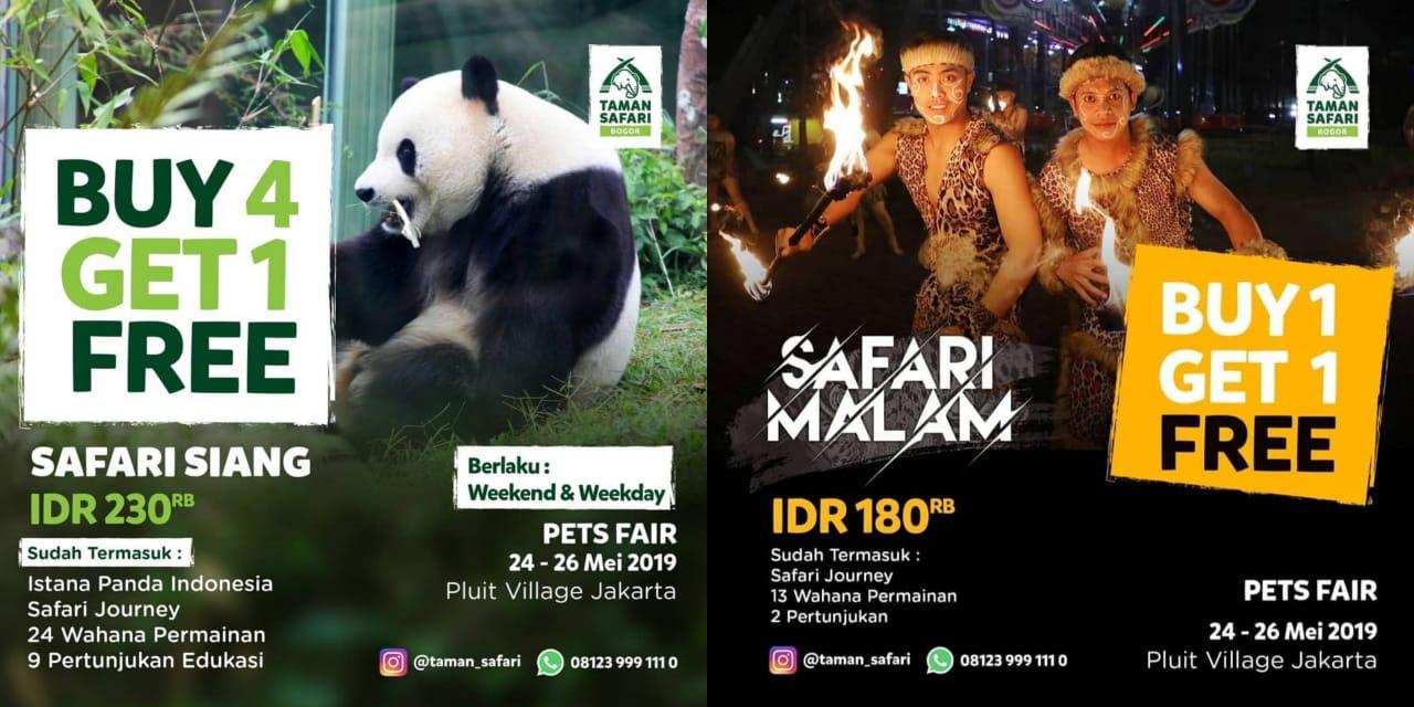 Taman Safari Promo Spesial Buy 4 Get 1 Free & Buy 1 Get 1 Free