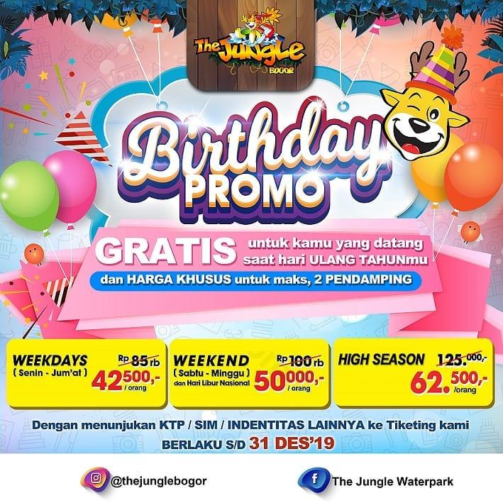 The Jungle Bogor Promo Ulang Tahun, Gratis Berenang Sepuasnya!