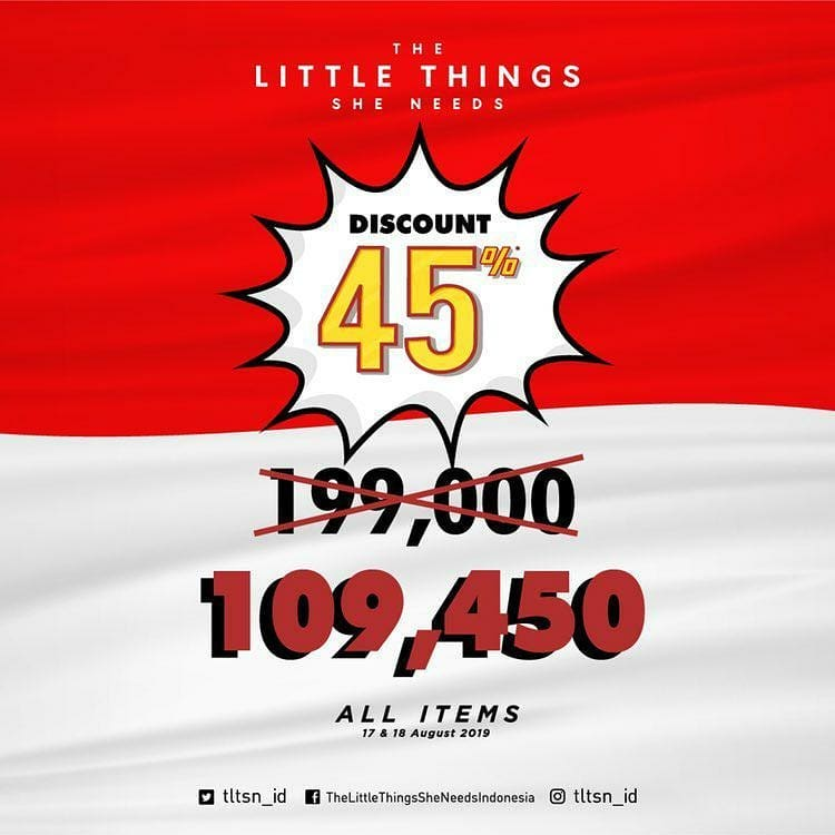 The Little Thing She Need Promo Merdeka, Harga Spesial Rp. 109 Ribuan