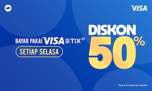 TIX ID Promo Spesial Nonton Hemat, Diskon 50%