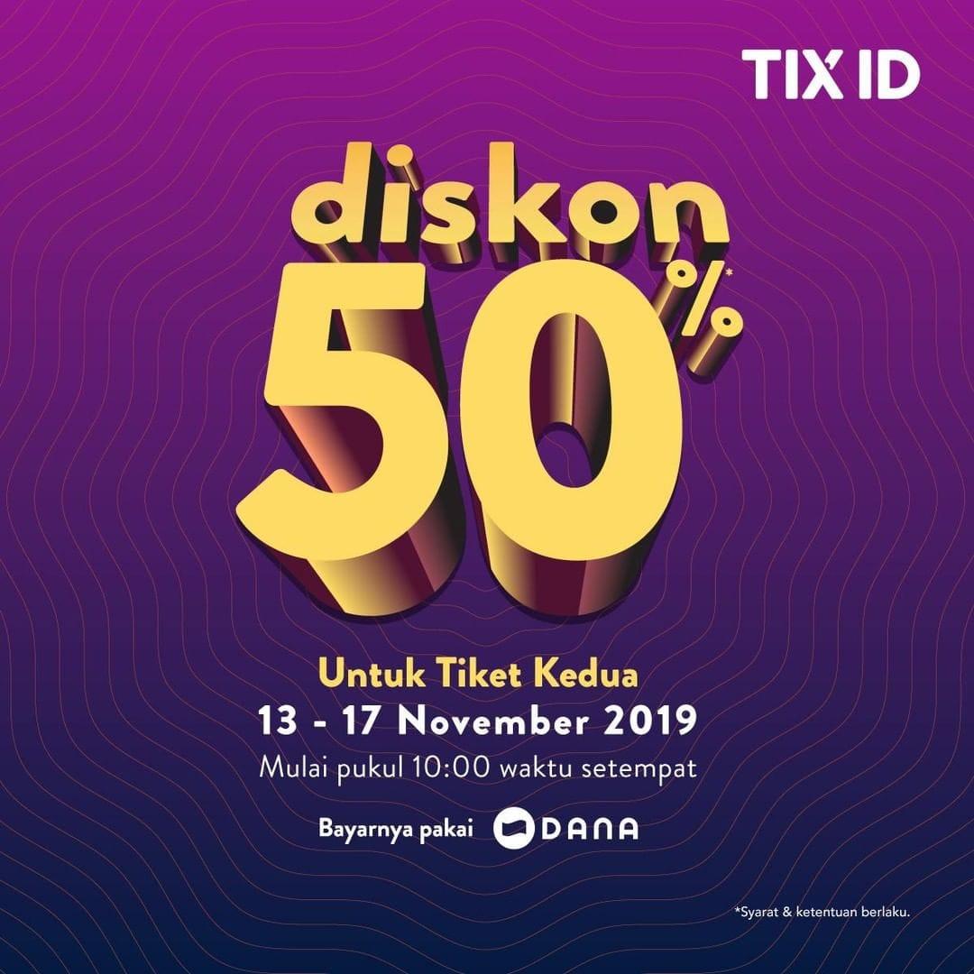 TIX ID Promo Nomat Tengah Bulan, Diskon 50%!