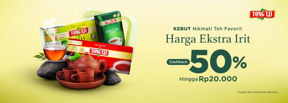 Tokopedia Promo Teh Tong Tji, Cashback 50% Hingga Rp 20 Ribu