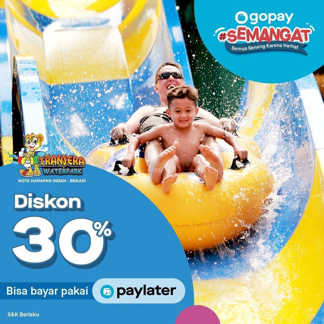 Transera Waterpark Promo Spesial Diskon 30% Tiket Masuk Dengan GOPAY!