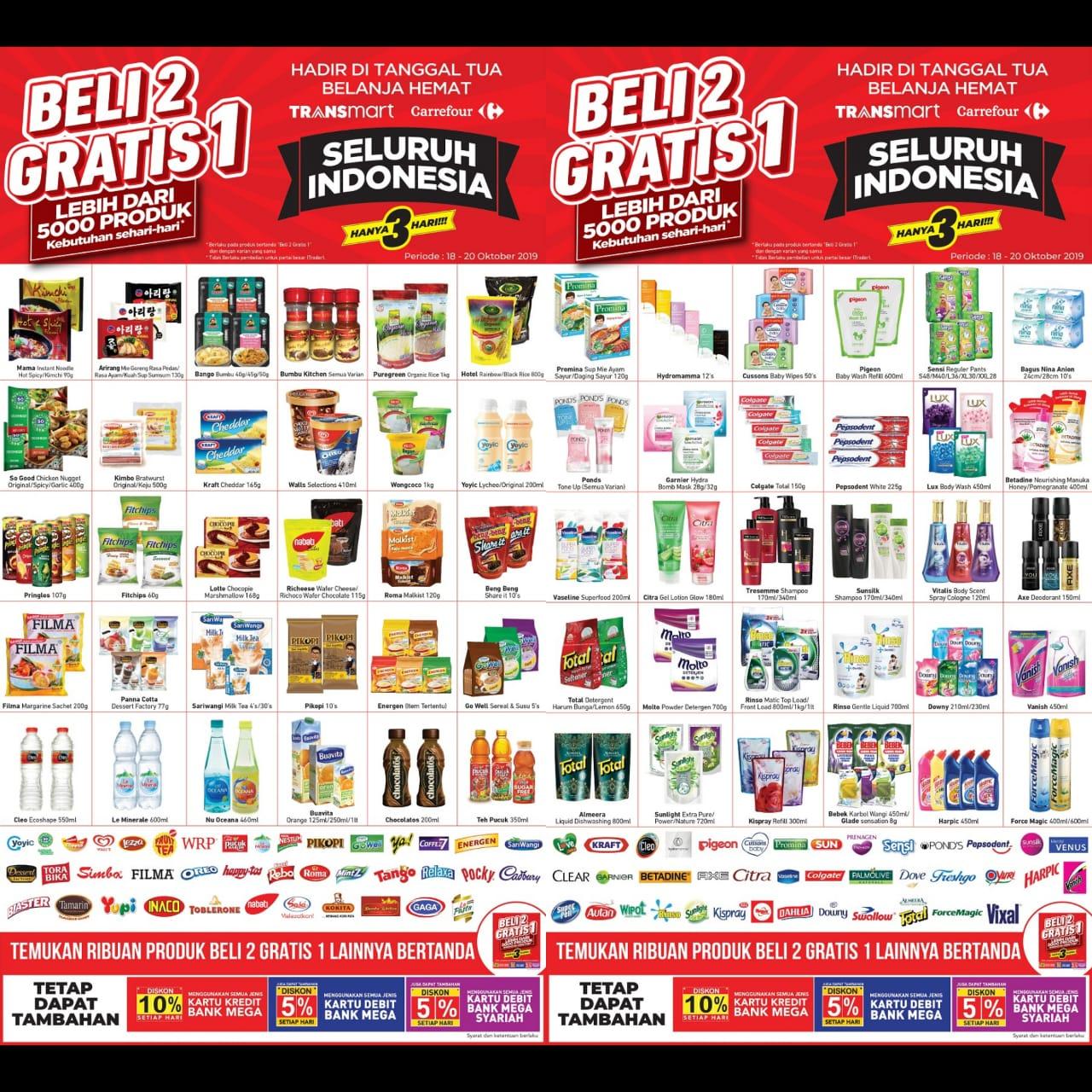 Katalog Promo JSM Transmart Carrefour Periode 18-20 Oktober 2019