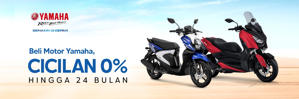 Blibli Promo Motor Yamaha, Diskon hingga 8% + Cicilan 0% hingga 24 Bulan