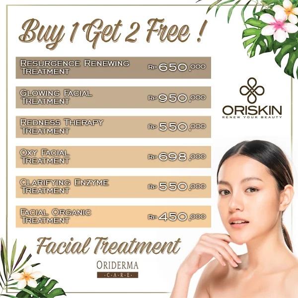 Promo Oriskin Spesial GD+, Buy 1 Get 2 Free Facial Resurgence Renewing Treatment