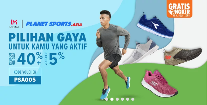 Lazada Planet Sports Big Sale,DISKON hingga 40%+5%