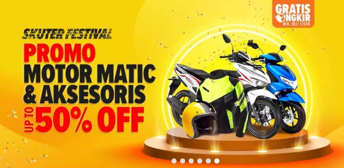 Lazada Promo Motor Matic & Aksesoris, Diskon Sampai 50%