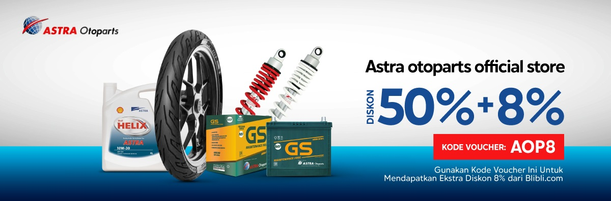 Blibli Promo Astra Otoparts Official Store, Diskon 50% + 8%