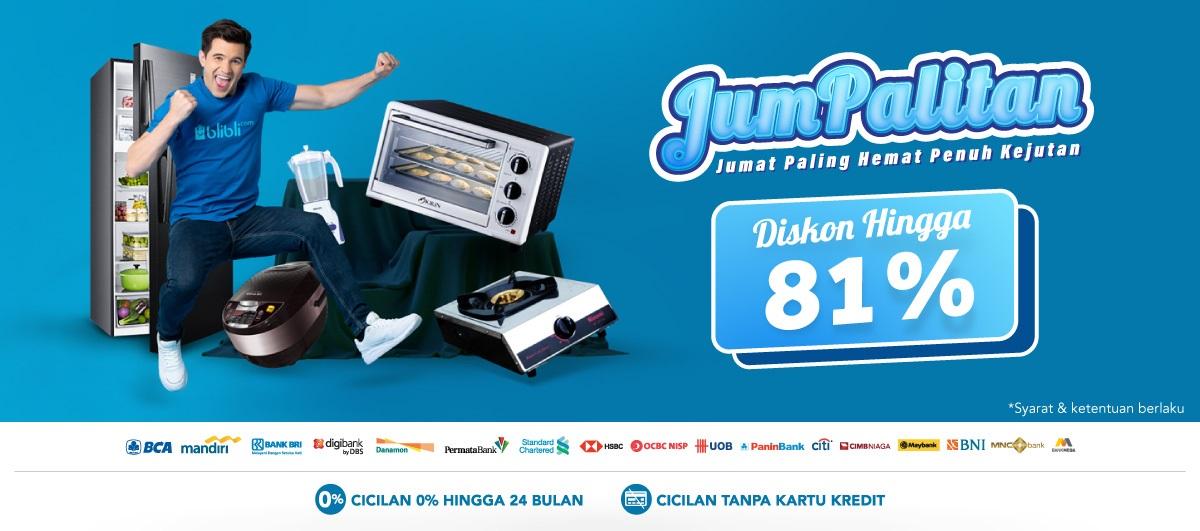 Blibli Promo Jumpalitan, Elektronik Terlengkap Diskon Hingga 81%