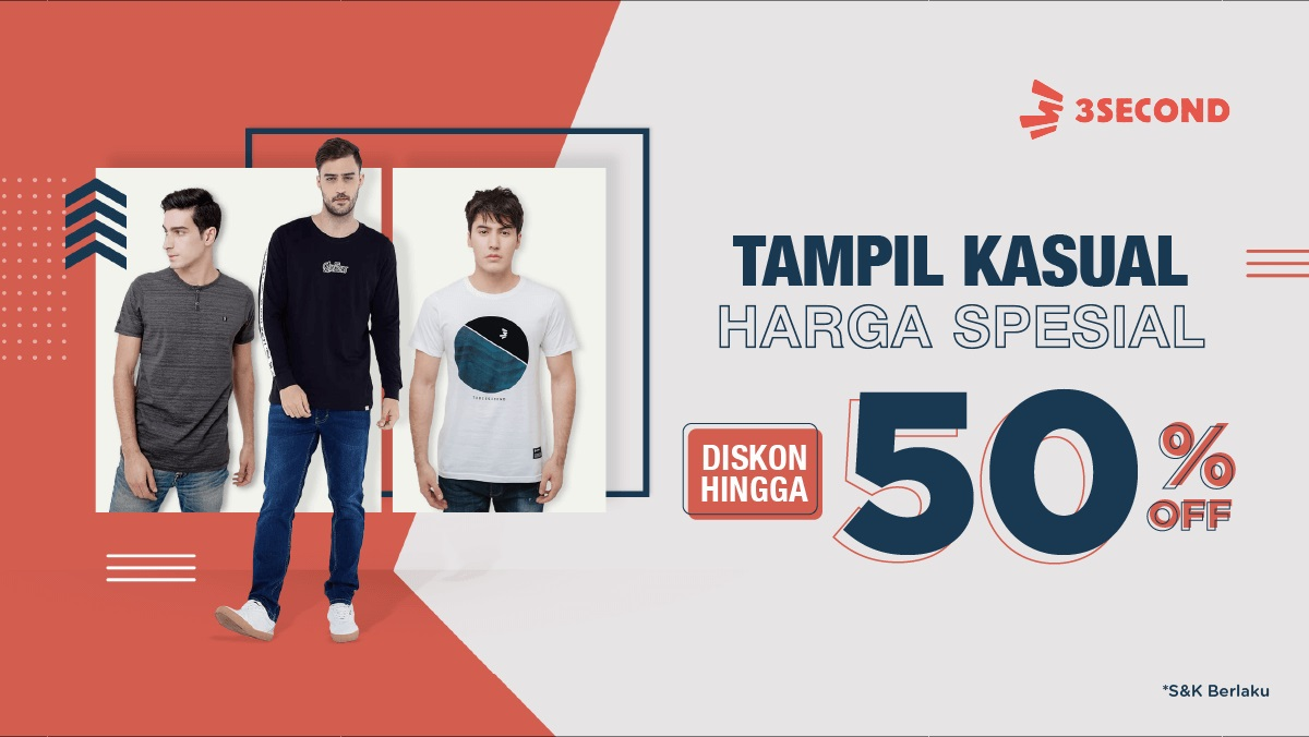 Tokopedia Promo 3Second, Diskon Hingga 50%