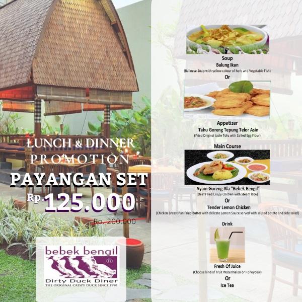 Promo Bebek Bengil Spesial GD+, Payangan Set Hanya Rp 125.000 (Weekdays Only)