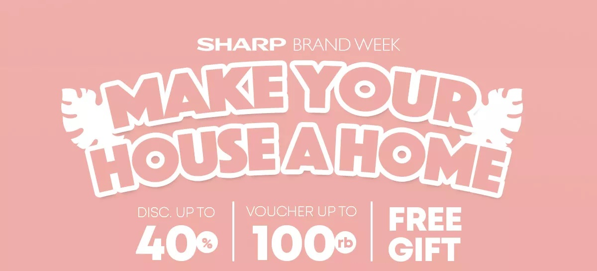JD.ID Promo Sharp Brand Diskon Hingga 40%, Voucher Rp 100.000 + Free Gift