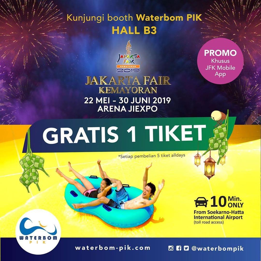 Waterbom PIK Promo Spesial Jakarta Fair, Beli 5 Gratis 1