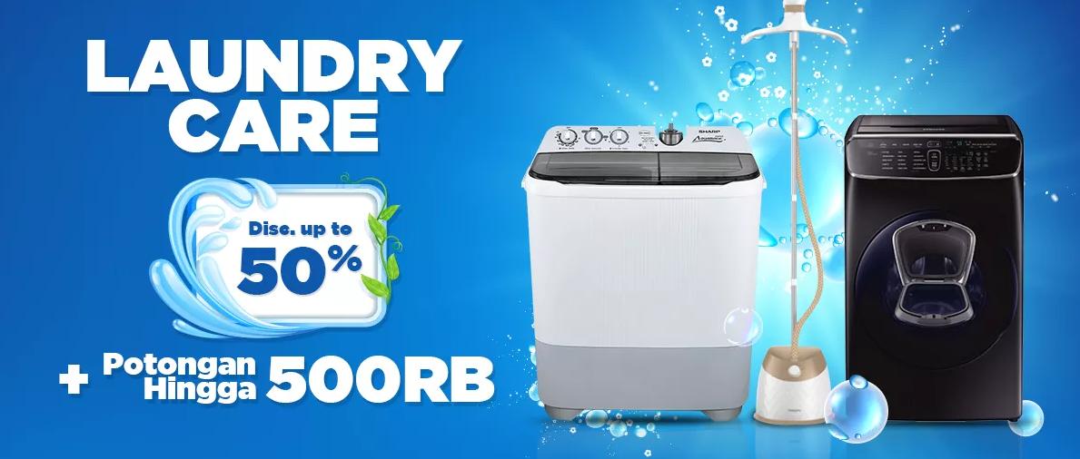 JD.ID Laundry Care, Diskon 50% + Diskon Rp. 500 ribu