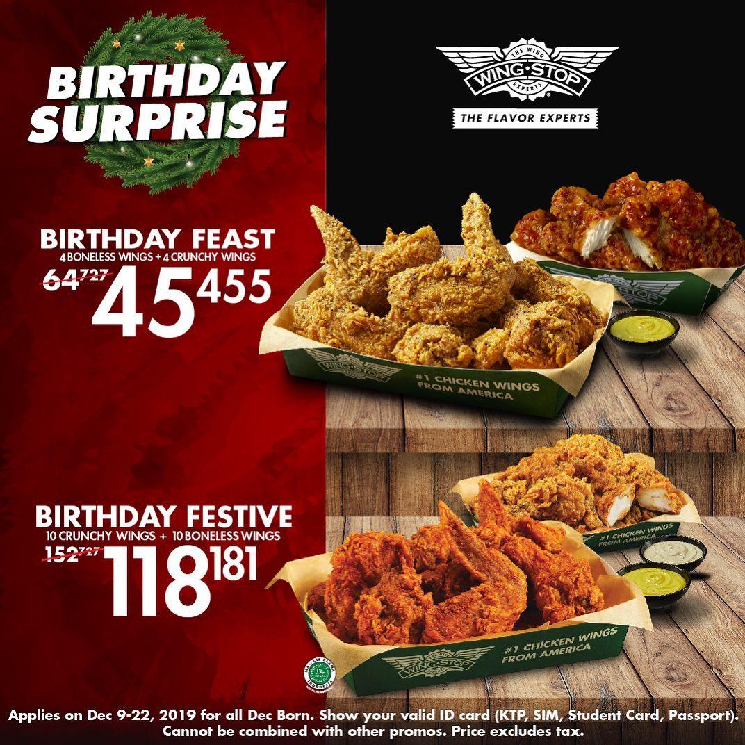 Wingstop Promo Spesial Birthday Surprise, Makan Enak Mulai Rp. 45 Ribuan!