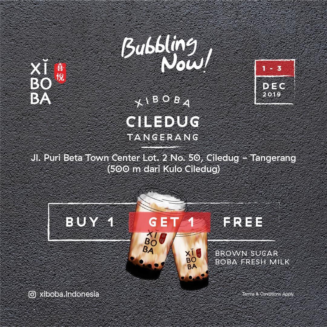 Xi Boba Promo Opening Store, Beli 1 Gratis 1 Di Ciledug!