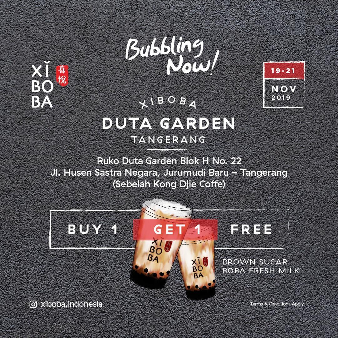 Xi Boba Promo Opening Store, Beli 1 Gratis 1 Di Duta Garden!
