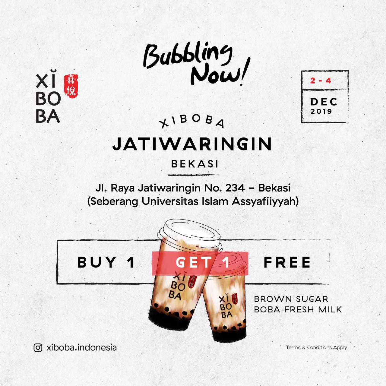 Xi Boba Promo Opening Store, Beli 1 Gratis 1 Di Jatiwaringin!