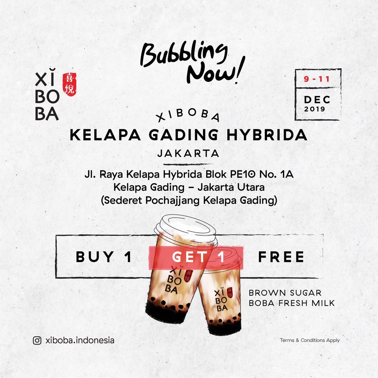 Xi Boba Promo Opening Store, Beli 1 Gratis 1 Di Kelapa Gading!