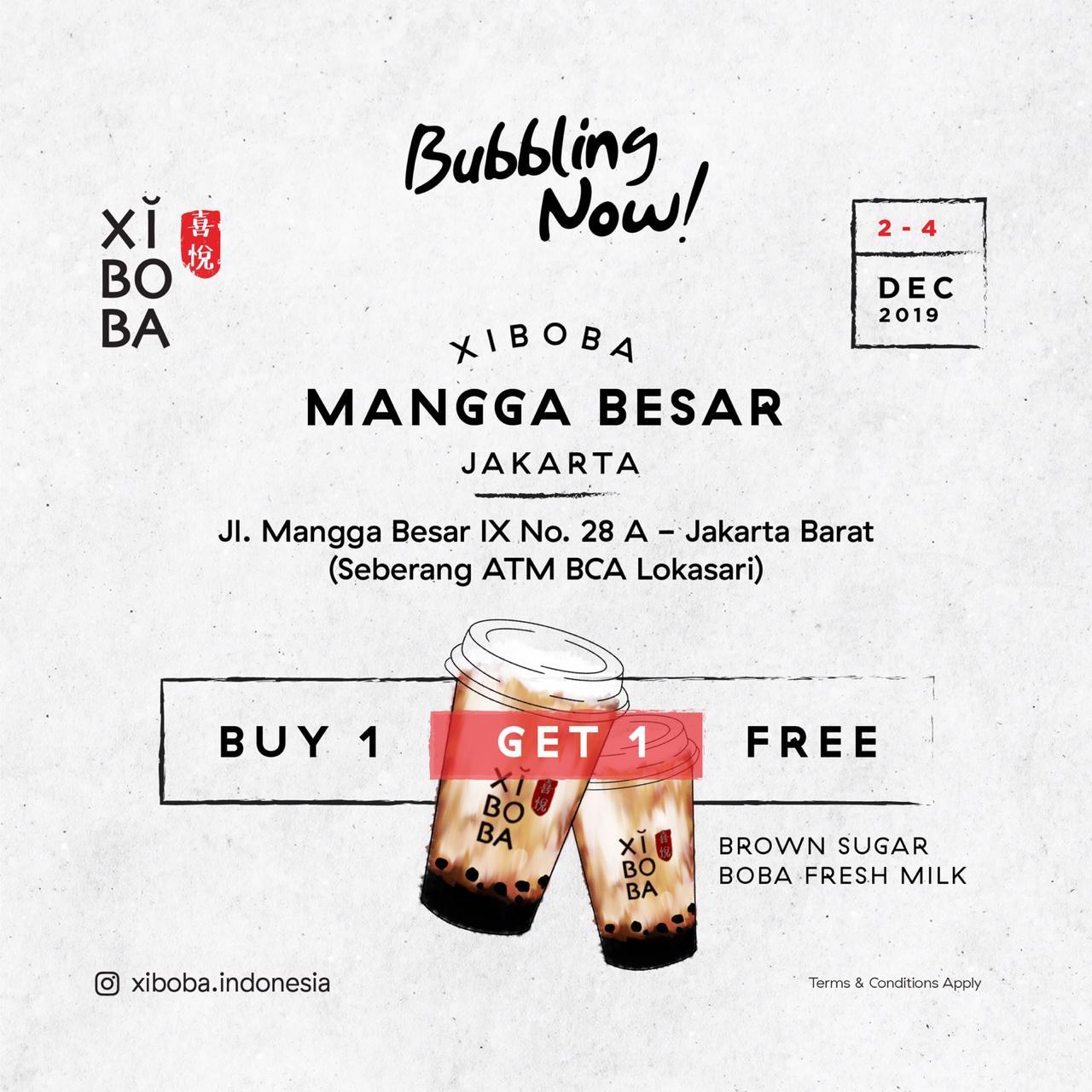 Xi Boba Promo Opening Store, Beli 1 Gratis 1 Di Mangga Besar!