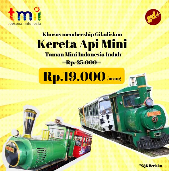 Promo TMII Spesial GD+, Diskon Wahana Kereta Api Mini