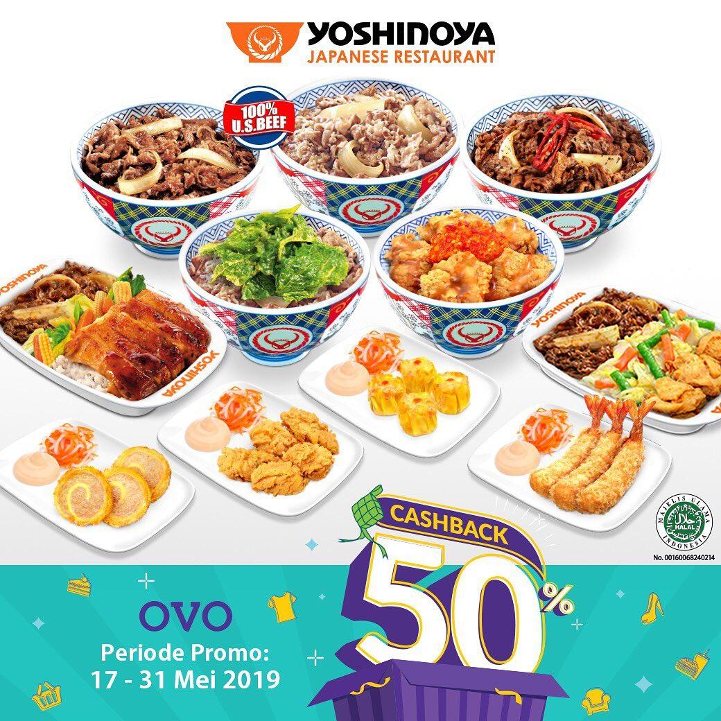 Yoshinoya Promo Spesial CASHBACK 50% Dengan Ovo