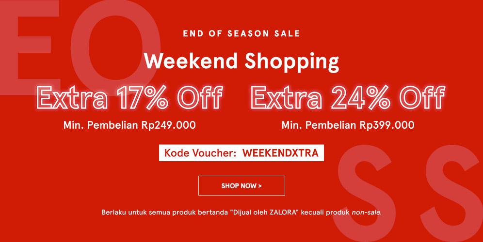 Zalora Promo Weekend Special Best Deal Diskon Ekstra Hingga 24%