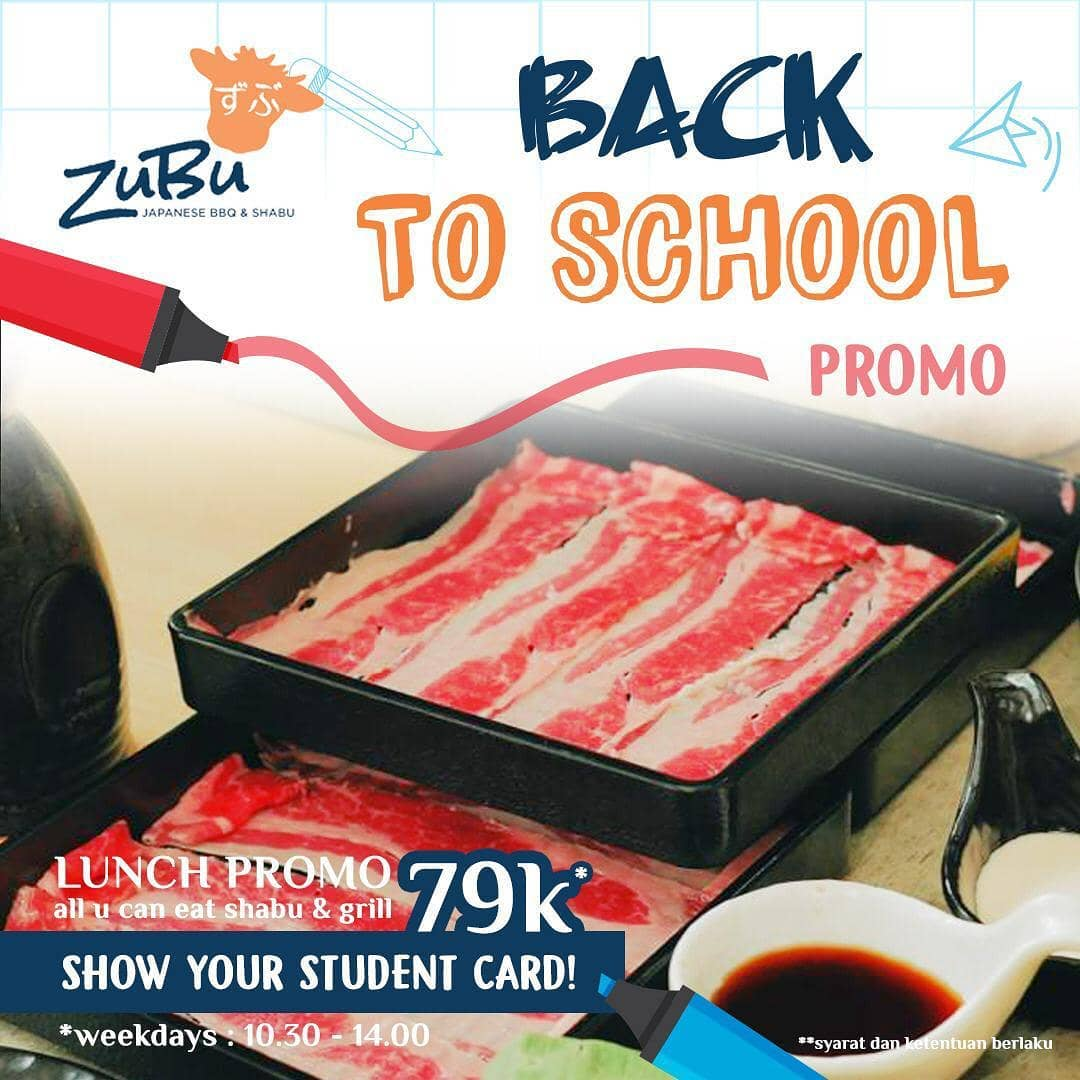 Zubu Blok M Promo Back To School, All You Can Eat Mulai Dari Rp. 79.000!