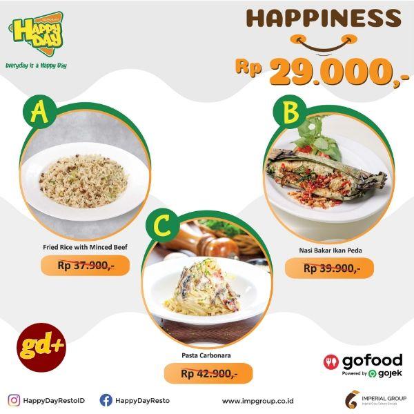 Happy Day Resto Promo Menu Makanan Pilihan hanya Rp 29.000!