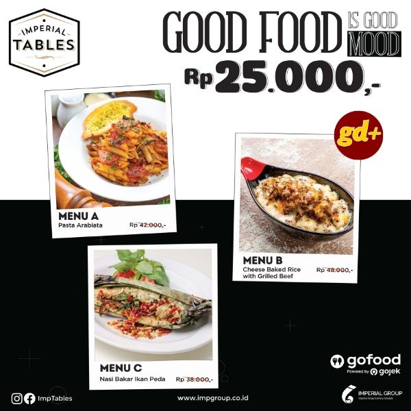 Imperial Tables Promo Menu Makanan Pilihan Hanya Rp 25.000!