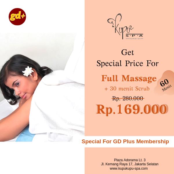 Kupu Kupu Spa Promo Full Massage Treatment dan Scrub Special Price