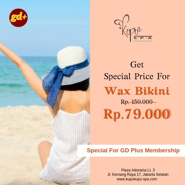 Kupu Kupu Spa Promo Wax Bikini Treatment Special Price