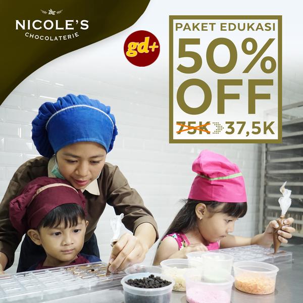 Promo Nicole's Chocolaterie, Diskon 50% Untuk Paket Edukasi