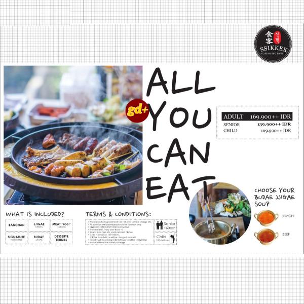 Promo SSIKKEK, All You Can Eat Diskon 50% Untuk Pax Kedua