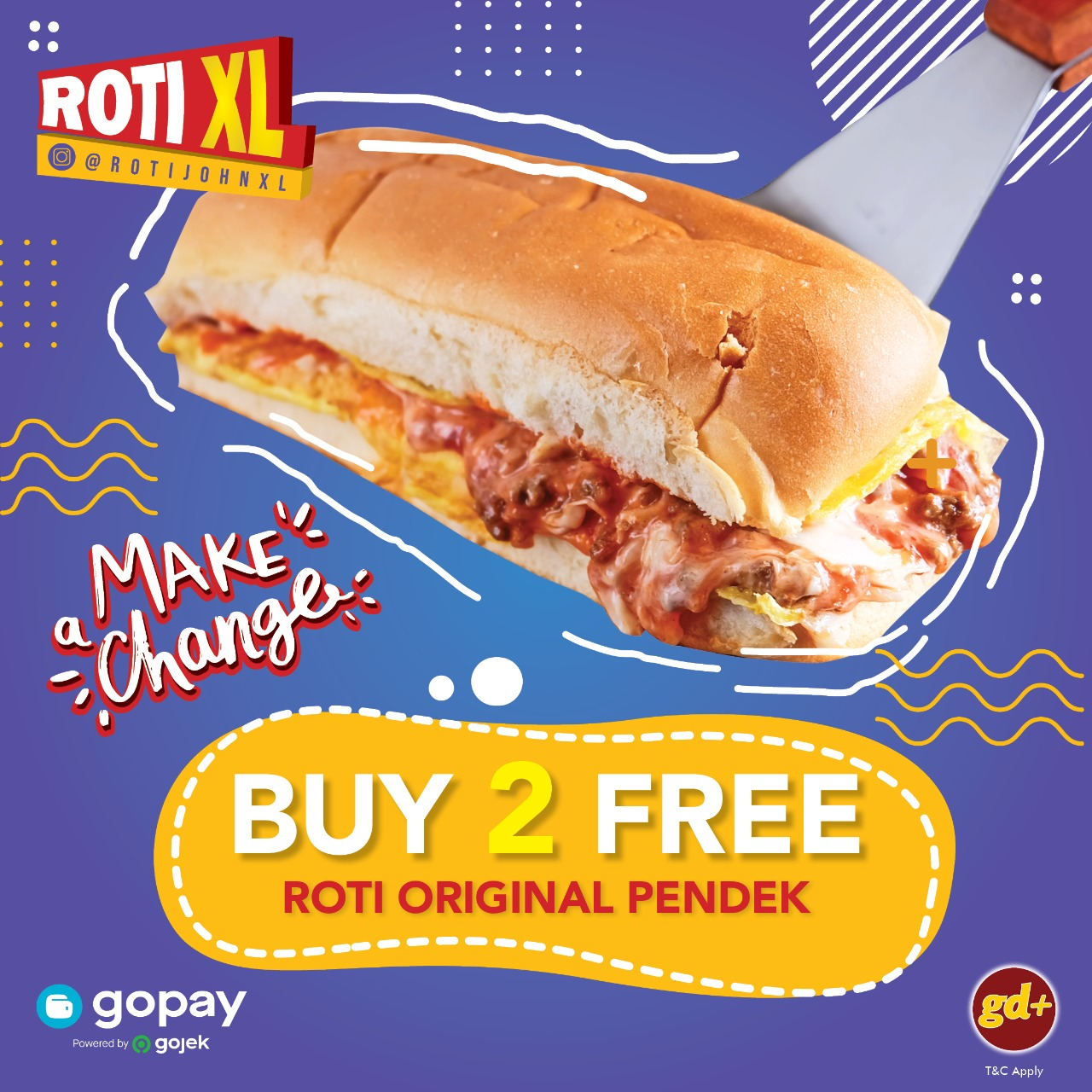 Roti XL Promo Buy 2 Get Free Roti Original Pendek
