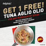 Promo The Real Holysteak ,FREE Tuna Aglio Olio