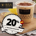 Royal Premium Honey Promo Diskon 20% Untuk Semua Menu Honey Drinks