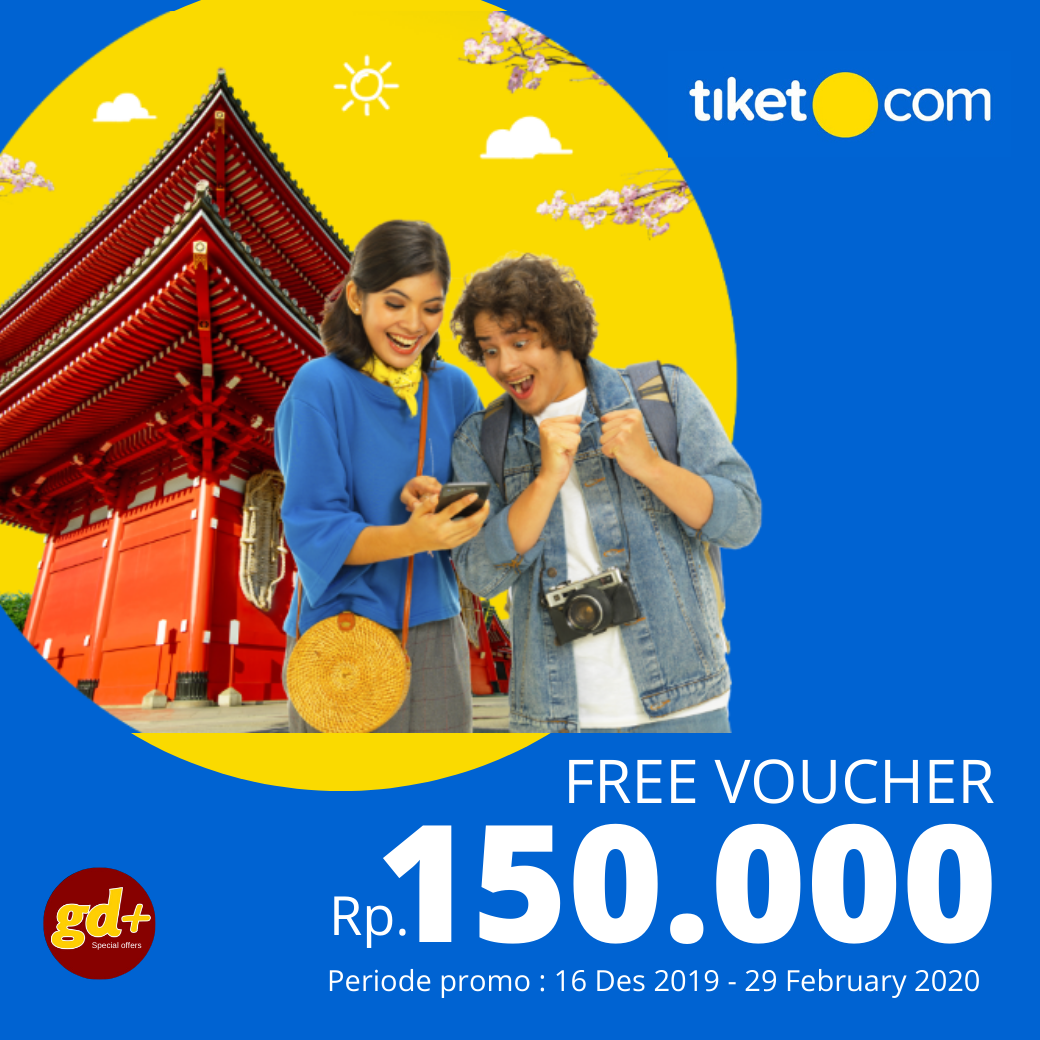 Tiket.com FREE Gift Voucher Senilai  Rp. 150.000