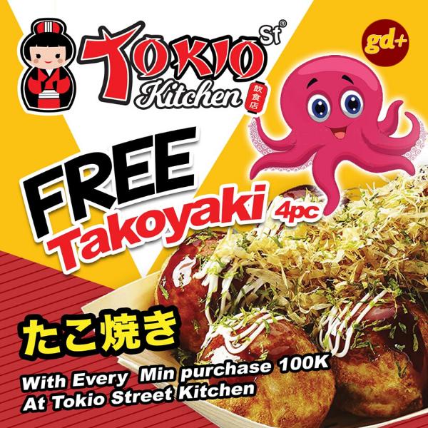 Tokio Kitchen Promo FREE Takoyaki