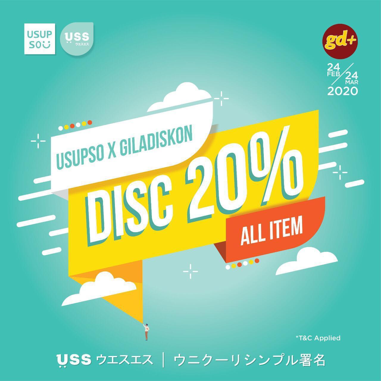 Usupso Promo All Items Diskon 20% OFF!