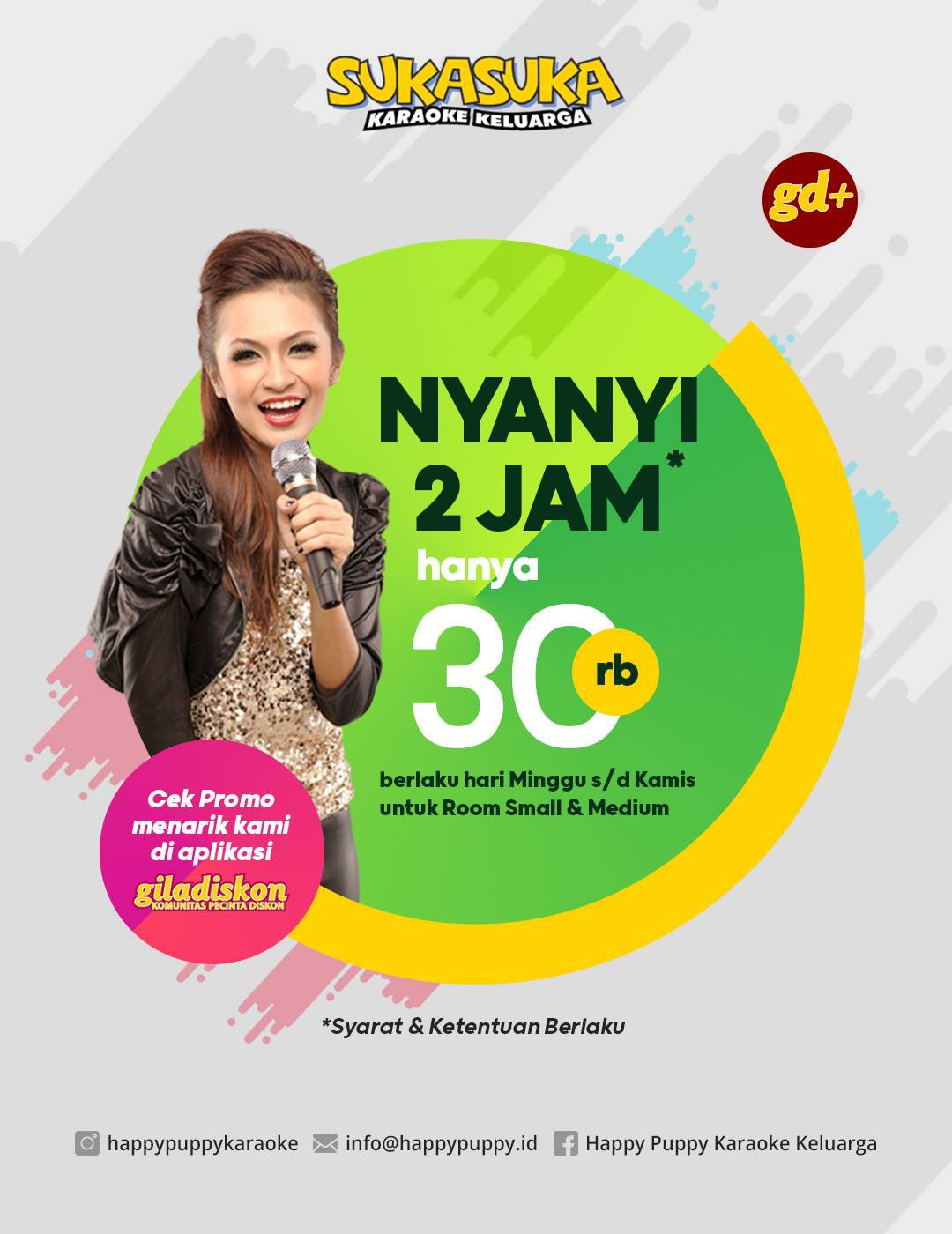 Promo Suka Suka Karaoke, Nyanyi 2 jam Hanya Rp 30.000